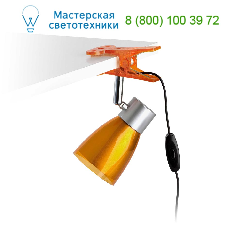 51965 ALADINO LED Orange office table clip lamp Faro,светильник