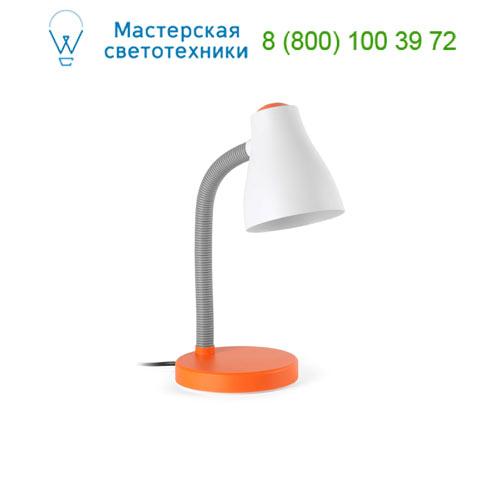 52043 Bob, FLEXO NARANJA 1 x E27 15W, 1 x E27 15W, офисный светильник, Faro Barcelona, Испания