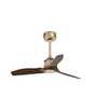 33423 Faro JUST FAN Медный потолочный вентилятор и деревянные лопасти 81см