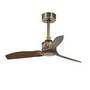 33428 Faro JUST FAN Старый золотой потолочный вентилятор и деревянные лопасти 81см