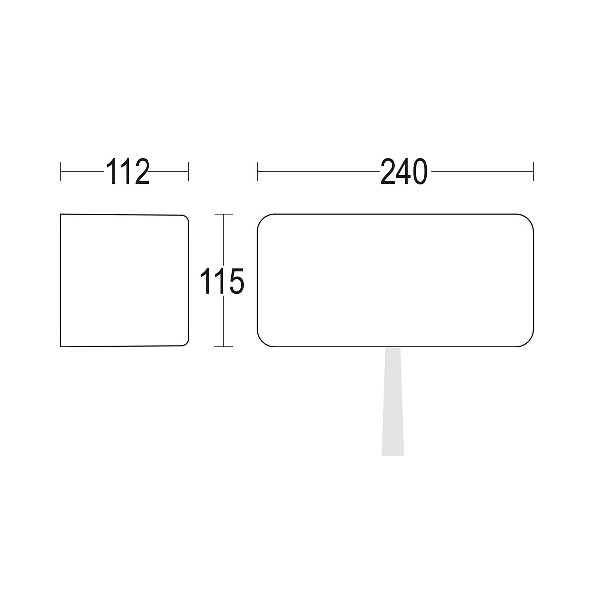 чертеж Modo 1Lens 240x115 Ghidini уличный светильник GH1015.BGXT300EN