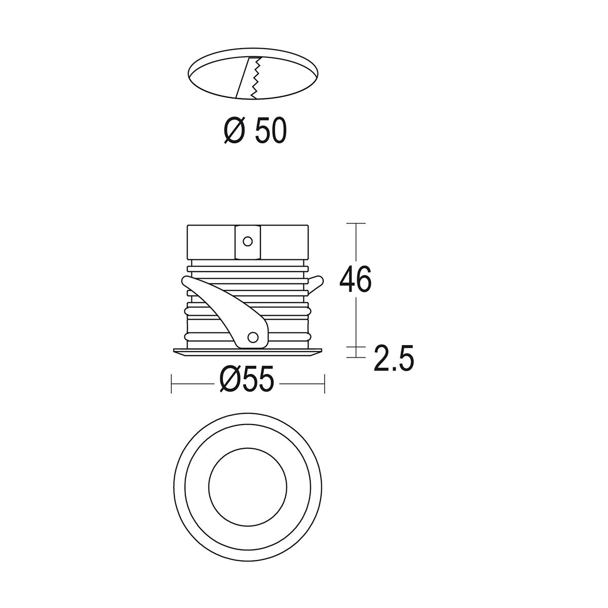 чертеж Maxisegno 55 Ghidini уличный светильник GH1065.BGMT300EC