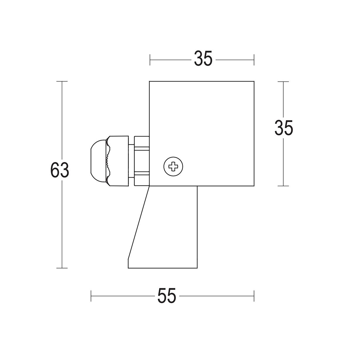 чертеж Segno spot 35 Ghidini уличный светильник GH1127.BAST300EC