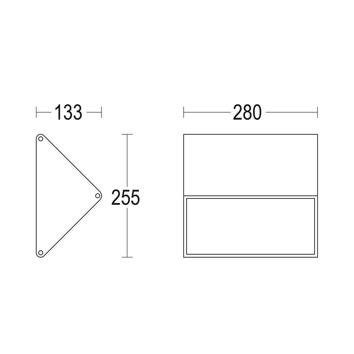 чертеж Minimignon 280 Ghidini уличный светильник GH1212.NMXO300EN