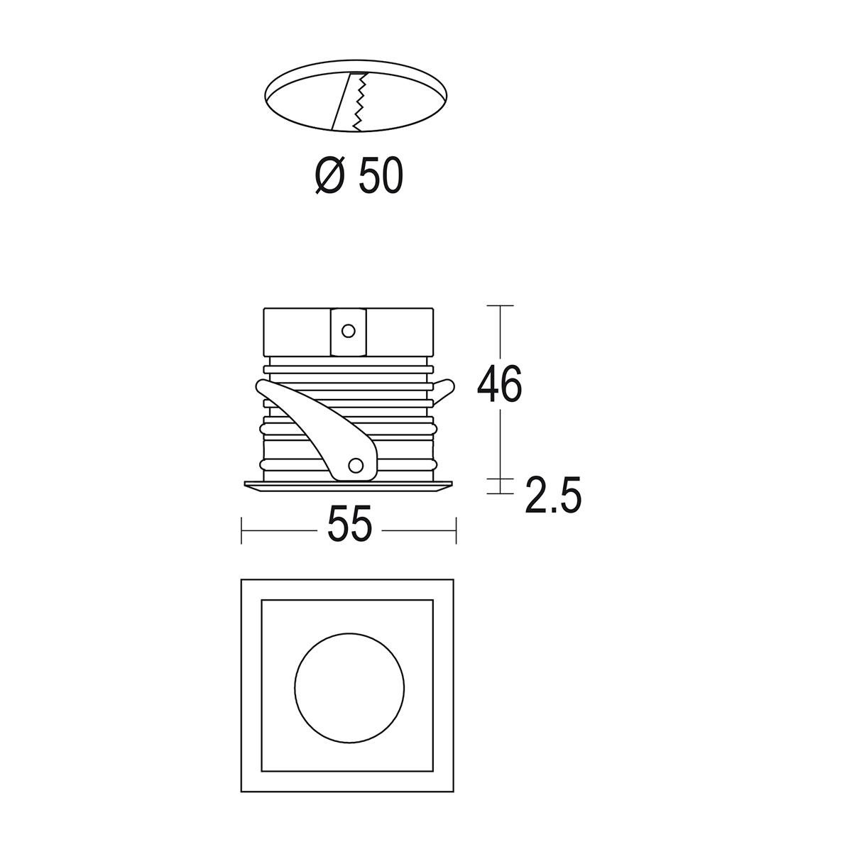 чертеж Maxisegno 55 Ghidini уличный светильник GH1242.BGMT300EC
