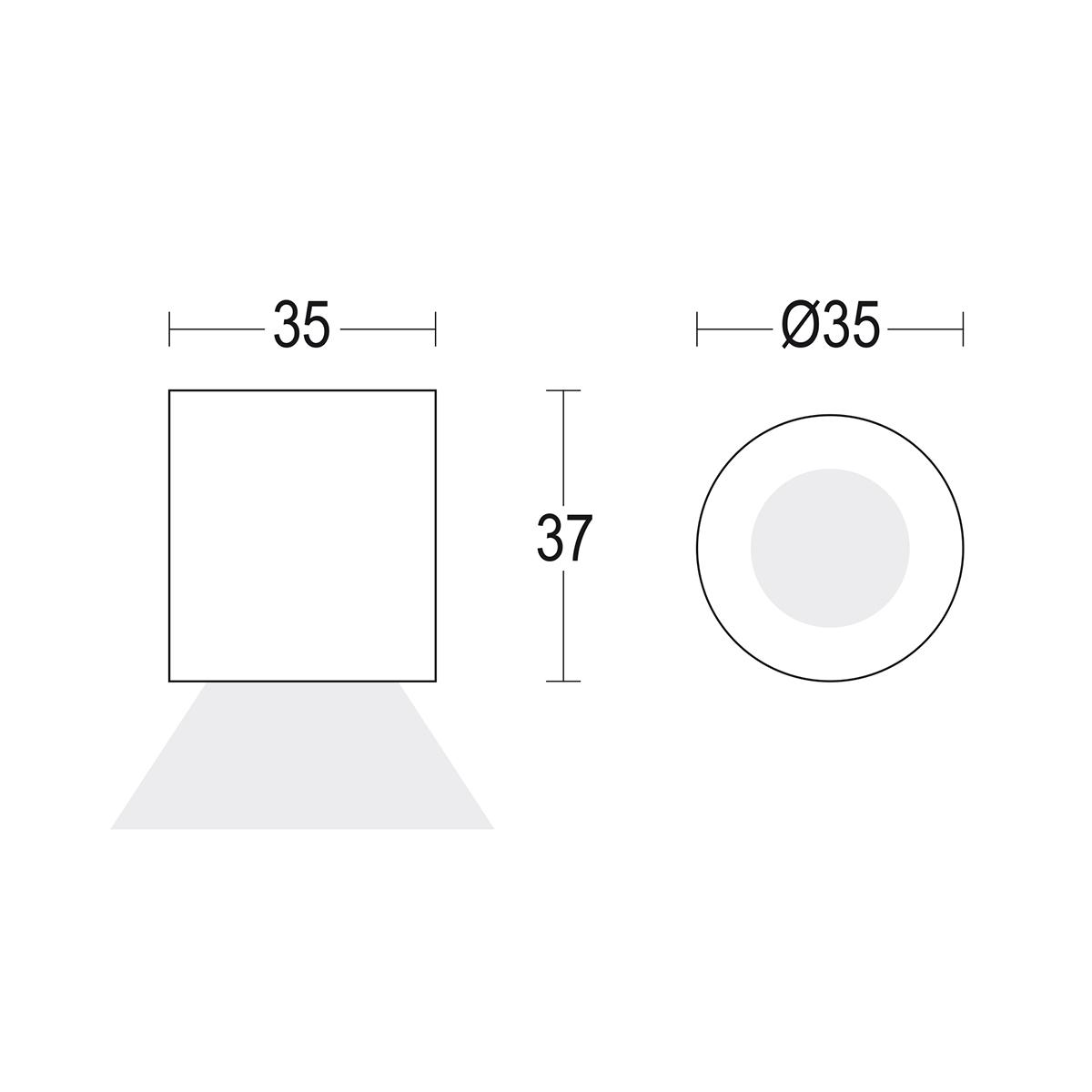 чертеж Punto 35 Ghidini уличный светильник GH1431.BAMT300EC