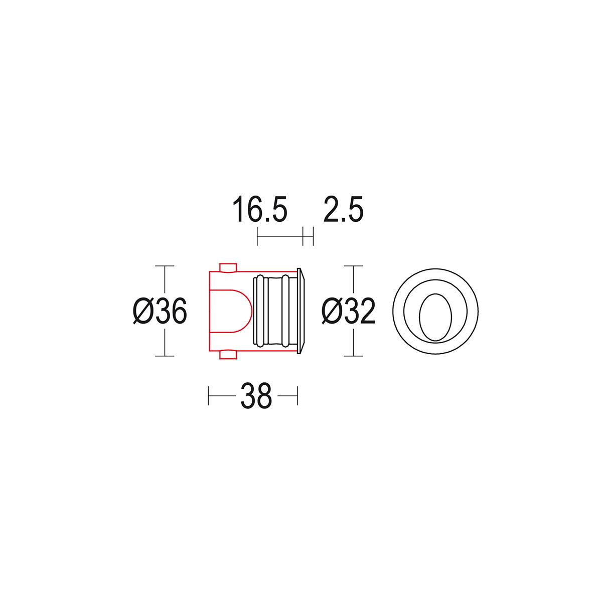чертеж Microsegno AS 32 Ghidini уличный светильник GH1436.BAXO300EC