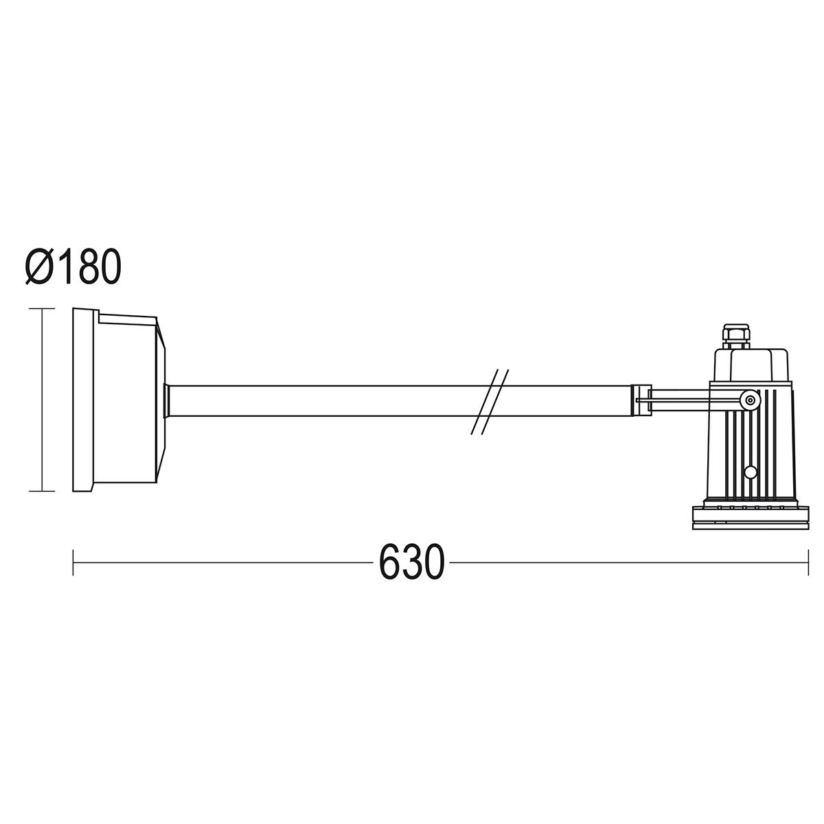 чертеж Mikko 115 Extension Ghidini уличный светильник GH5473.CGFT400EN