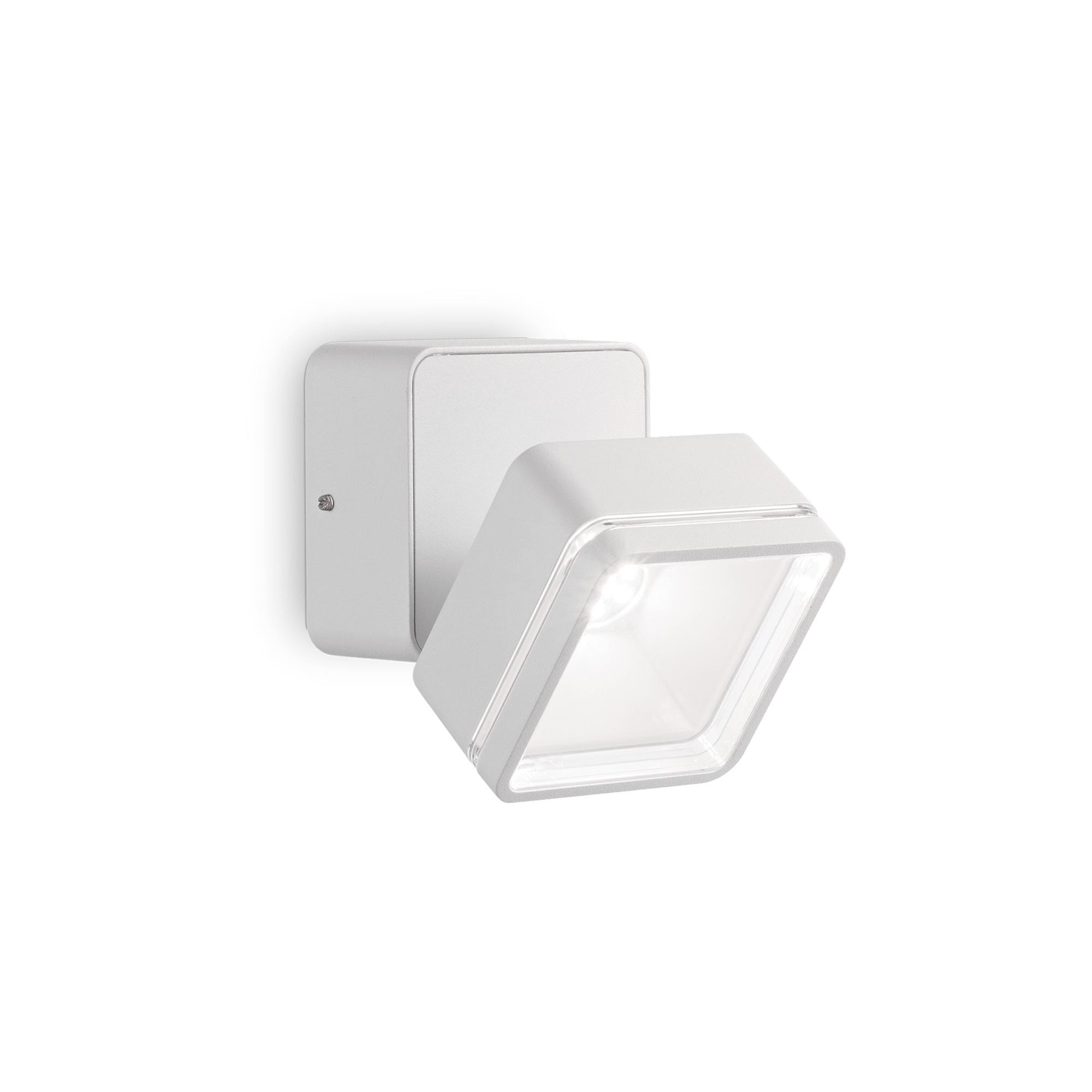 OMEGA SQUARE AP1 BIANCO уличный накладной светильник белый