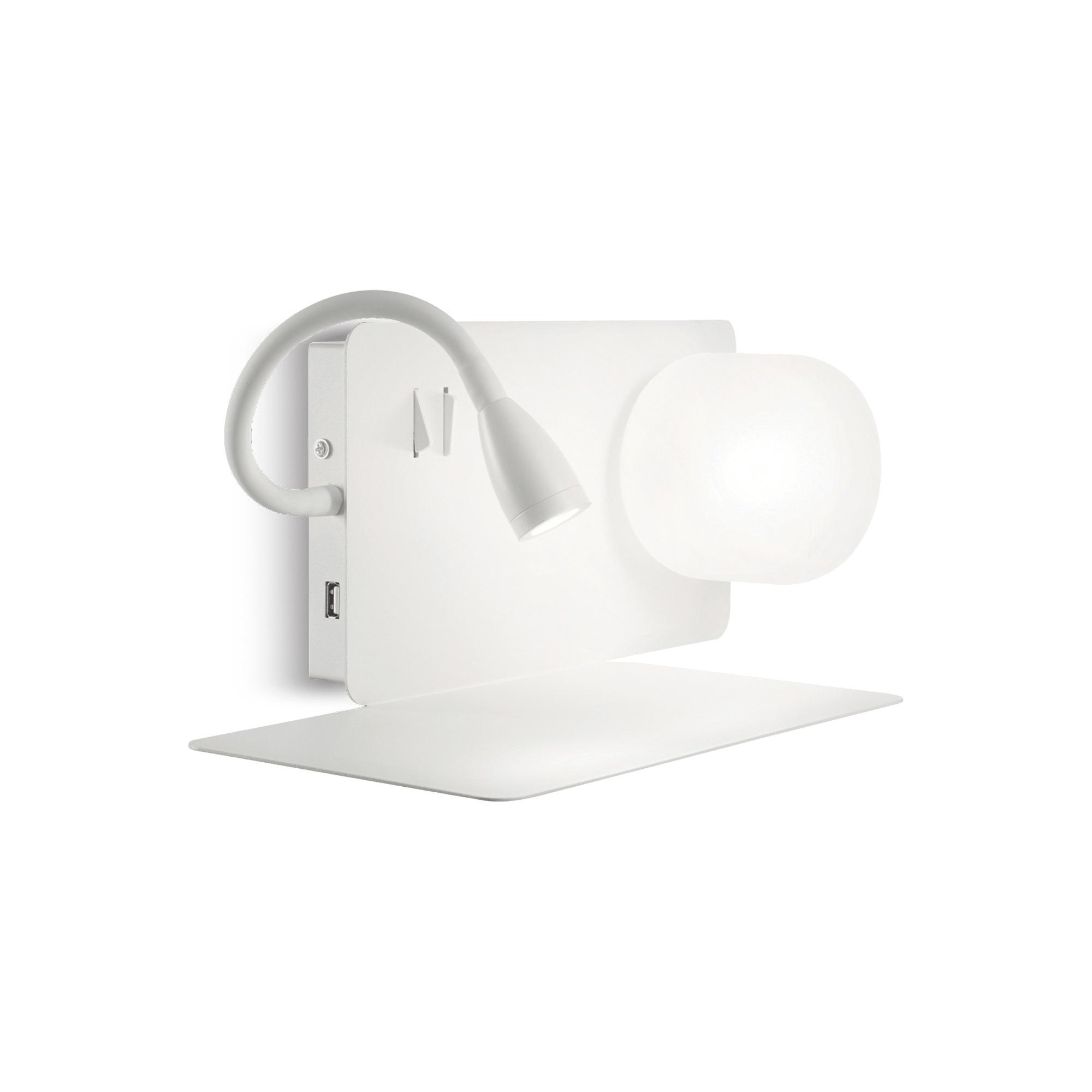 BOOK-1 AP2 BIANCO накладной светильник белый