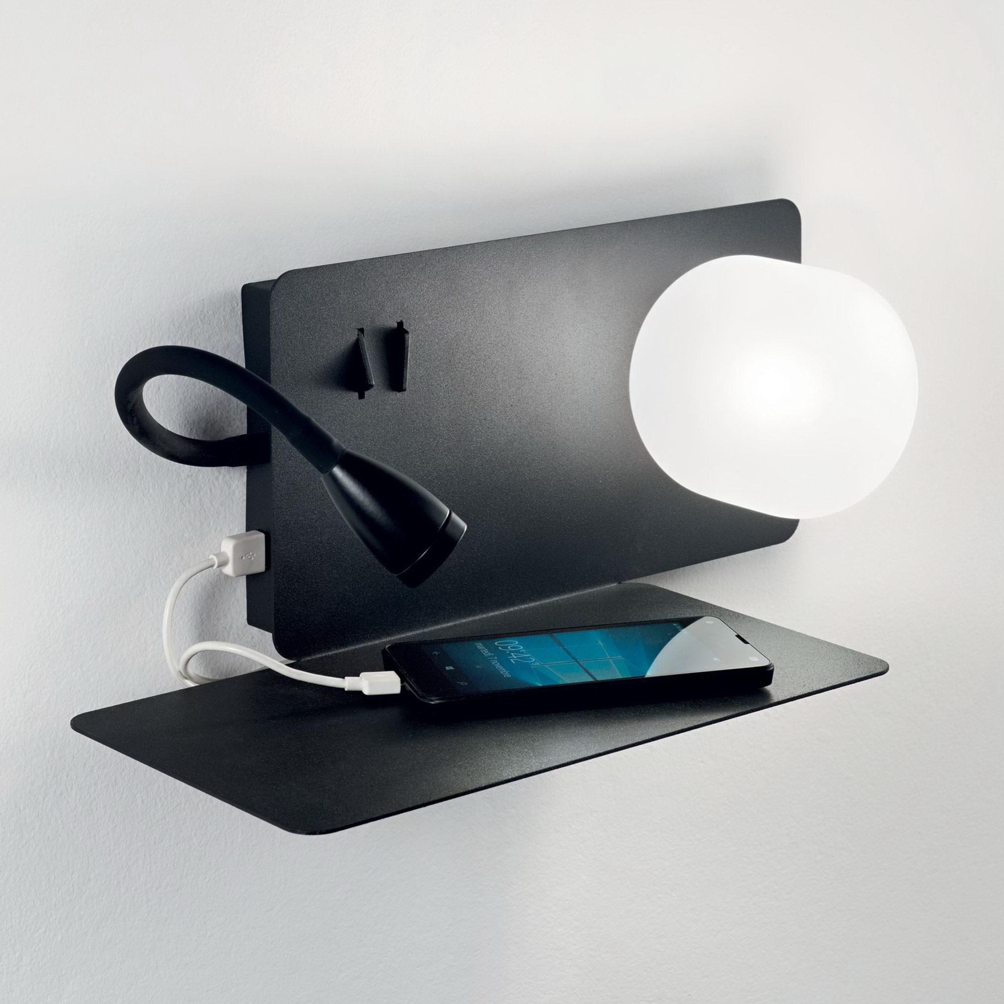 BOOK-1 AP2 NERO накладной светильник черный