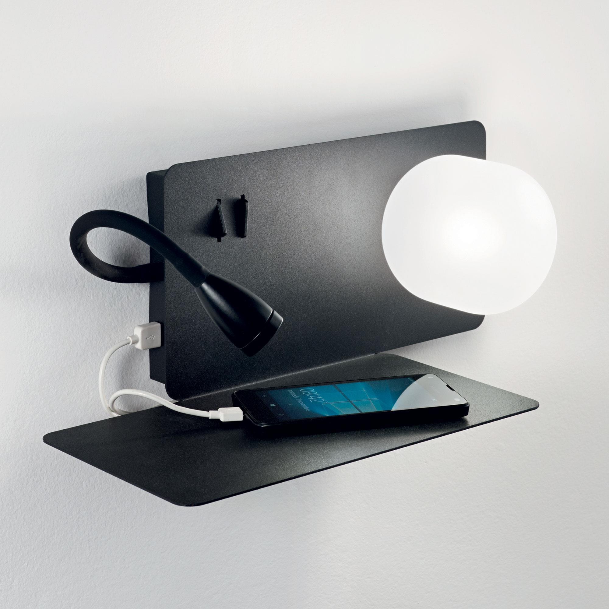 BOOK-2 AP2 NERO накладной светильник черный