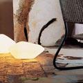 Stone of glass Oluce 33cm настольная лампа 203
