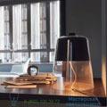 Semplice Oluce clear, H39cm настольная лампа 226-noir