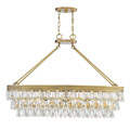 1-8702-8-322 Savoy House Windham 8 Light Warm Brass Linear Chandelier нодвесной светильник