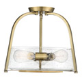 6-2183-3-322 Savoy House Dash 3 Light Warm Brass Semi Flush Mount потолочный светильник
