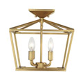 6-328-4-322 Savoy House Townsend 4 Light Warm Brass Semi-Flush потолочный светильник