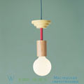 Junit, mentis Schneid ash wood, fuchsia,, H25cm подвесной светильник Mentis-natural-wood-fuchsia
