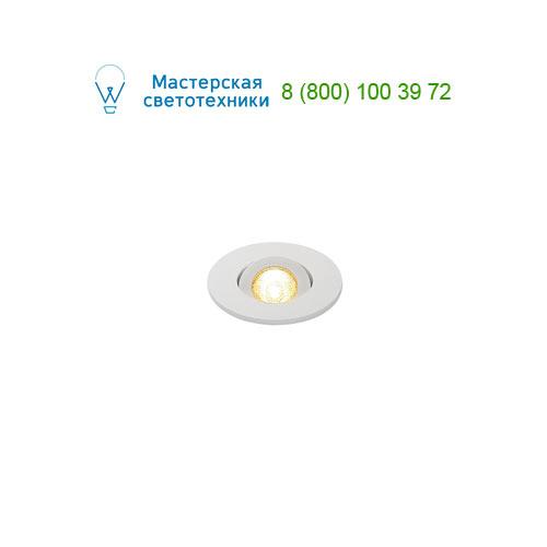113981 SLV by Marbel NEW TRIA MINI DL ROUND светильник с LED 2.2Вт, 3000K, 30°, 143lm, белый