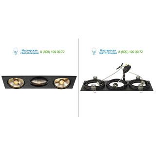 113850 SLV by Marbel NEW TRIA 3 ES111 светильник встраиваемый для 3-х ламп ES111 по 75Вт макс., черный