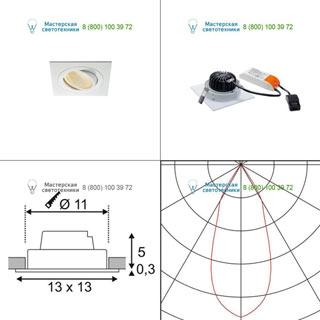 114251 SLV by Marbel NEW TRIA XL SQUARE SET светильник с COB LED 13ВТ (16Вт), 3000К, 1120lm, 38°, с блоком питания, белый