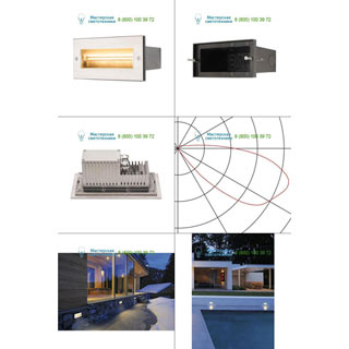 233661 SLV by Marbel BRICK LED ASYMETRIC PRO светильник встраиваемый IP65 с LED 9Вт (11Вт), 3000К, 40°, 850лм, сталь