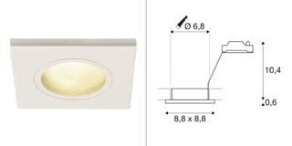 1001161 SLV by Marbel DOLIX OUT SQUARE MR16 светильник встраиваемый IP65 12В для лампы MR16 50Вт макс., белый (ex 111121)