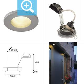 1001168 SLV by Marbel DOLIX OUT ROUND GU10 светильник встраиваемый IP65 для лампы GU10 50Вт макс., матовый хром