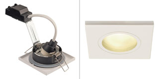 1001169 SLV by Marbel DOLIX OUT SQUARE GU10 светильник встраиваемый IP65 для лампы GU10 50Вт макс., белый (ex 111141)