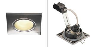 1001170 SLV by Marbel DOLIX OUT SQUARE GU10 светильник встраиваемый IP65 для лампы GU10 50Вт макс., хром (ex 111142)