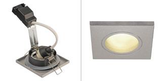 1001171 SLV by Marbel DOLIX OUT SQUARE GU10 светильник встраиваемый IP65 для лампы GU10 50Вт макс., серебр. (ex 111144)
