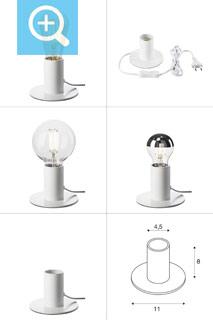 1001677 SLV by Marbel FITU TL светильник настольный для лампы E27 10Вт макс., белый