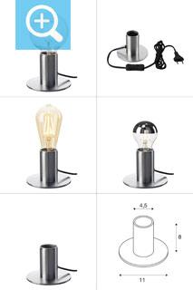 1001678 SLV by Marbel FITU TL светильник настольный для лампы E27 10Вт макс., алюминий