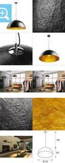 1001701 SLV by Marbel FORCHINI 70 PD светильник подвесной для лампы E27 40Вт макс., черный/ хром/ золото