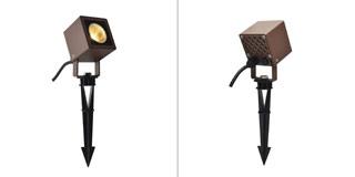 1001937 SLV by Marbel NAUTILUS 10 SQUARE LED светильник IP65 9Вт с LED 3000К, 520лм, 45°, кабель 2м с вилкой, бурый