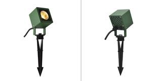 1001938 SLV by Marbel NAUTILUS 10 SQUARE LED светильник IP65 9Вт с LED 3000К, 520лм, 45°, кабель 2м с вилкой, зеленый
