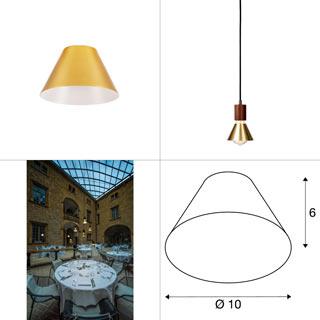 1001953 SLV by Marbel FITU 10, абажур на лампу, диам. 10 см, латунь