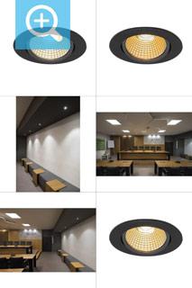 1001978 SLV by Marbel NEW TRIA 68 ROUND CS/LS DtW светильник встр. 7.2Вт с LED 1800-3000К, 440лм, 38°, CRI>90, черный