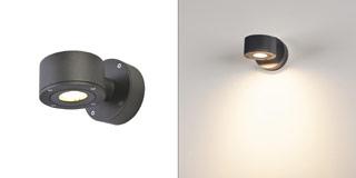 1002016 SLV by Marbel SITRA WALL LED светильник настенный IP44 9Вт с LED 3000К, 450лм, 55°, антрацит