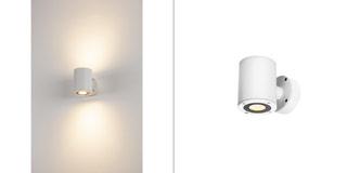 1002041 SLV by Marbel SITRA WALL UP-DOWN LED светильник настенный IP44 17Вт с LED 3000К, 2х 488лм, 2х 55°, белый