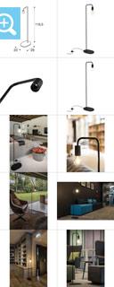 1002146 SLV by Marbel FITU FL светильник напольный для лампы E27 60Вт макс., черный