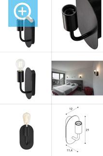 1002148 SLV by Marbel FITU WL светильник настенный для лампы E27 60Вт макс., черный