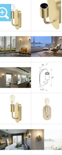 1002149 SLV by Marbel FITU WL светильник настенный для лампы E27 60Вт макс., латунь