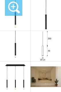 1002159 SLV by Marbel FITU LONG E27 PD-3 светильник подвесной 2.5m для лампы E27 60Вт макс., без основания, черный