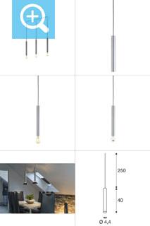 1002161 SLV by Marbel FITU LONG E27 PD-3 светильник подвесной 2.5m для лампы E27 60Вт макс., без основания, мат. алюминий