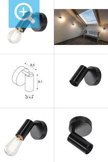 1002585 SLV by Marbel FITU CW светильник накладной для лампы E27 60Вт макс., черный