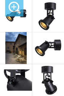 1002867 SLV by Marbel NAUTILUS WL QPAR51 Outdoor surface-mounted wall light black