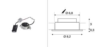 1003060 SLV by Marbel NEW TRIA 68 ROUND CS светильник встраиваемый 5.3Вт с БП и LED 2700К, 300лм, 38°, матир. алюминий