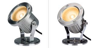 230802 SLV by Marbel NAUTILUS LED 304B светильник IP55 c 3-мя PowerLED по 1Вт (4.5Вт), 3000K, 240lm, 45°, сталь
