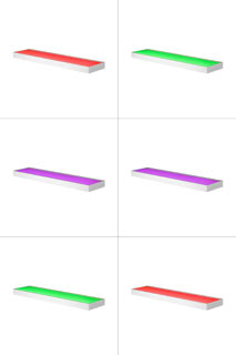 1003022 SLV by Marbel SLV VALETO®, NEW FLAT светильник настенный 11.3Вт с LED RGBW, 580лм, белый